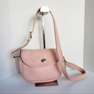 Roots leather crossbody saddle bag